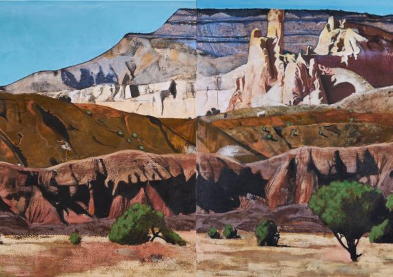 Ghost Ranch Landscape with Chimney Rock Diptych