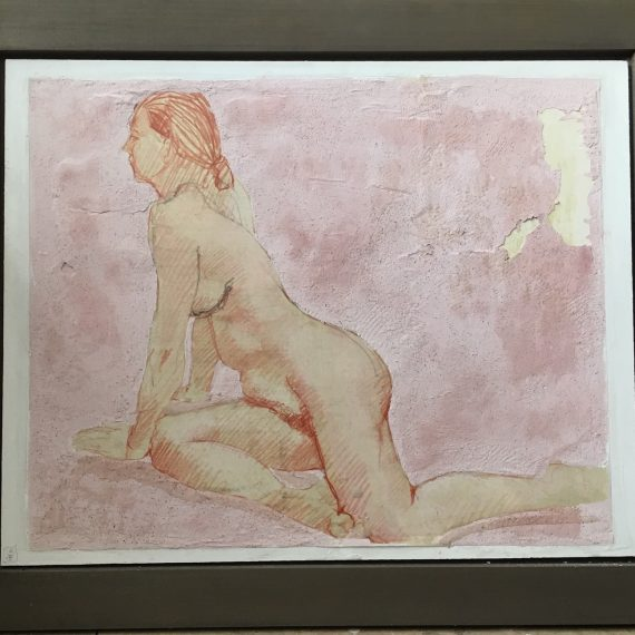 Female Nude on Pink Ground