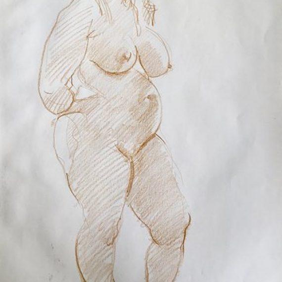 Standing Nude: